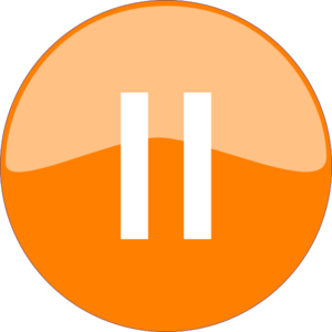 Pause Button Orange Clip Art