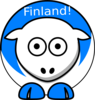 Sheep - Finland Finnish Flag Colors Clip Art