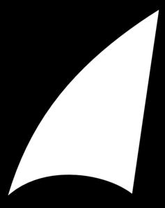 Shark Fin Shape Clip Art