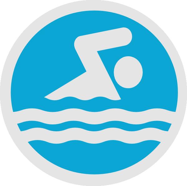 Swim Party Logo Clip A...