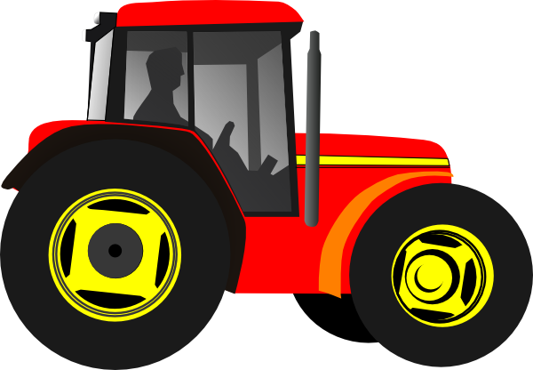 red tractor clip art at clker com vector clip art online royalty rh clker com tractor clipart images tractor clip art for shirts