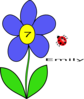 Flower With Ladybug Clip Art