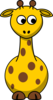 Giraffe Looking Right-down Clip Art