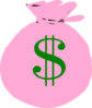 Pink Money Bag Clip Art