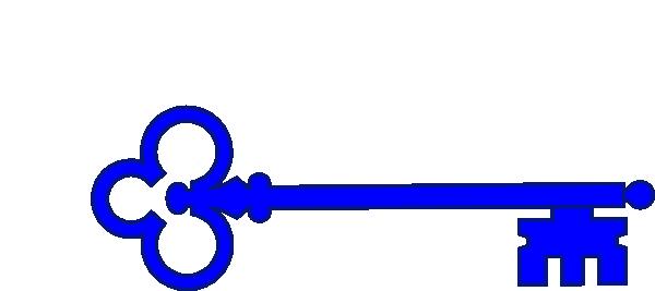 blue skeleton key clip art at clkercom vector clip art