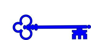 Clip Art Skeleton Key Clipart blue skeleton key clip art at clker com vector online art