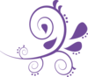Paisley Curves  Purple 2 Clip Art