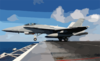 An F/a-18c Hornet Assigned To The Fist Of The Fleet Of Strike Fighter Squadron Two Five (vfa-25) Launches From One Of Four Steam Powered Catapults Aboard Uss John C. Stennis (cvn 74) Clip Art