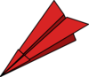 Red Paperplane Clip Art
