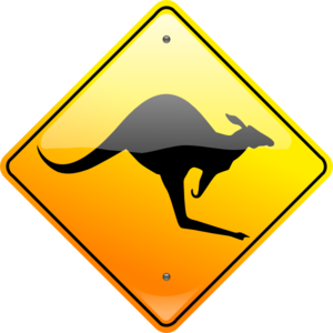 Kangaroo Sign Clip Art
