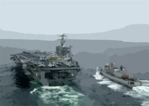 Dutch Frigate Refuels From Uss Washington Clip Art