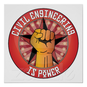 Civil Engineering Is Power Poster R E D F D B Cbaad E Bff W Q Image