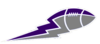Purple Gray Football Lightning Big Image