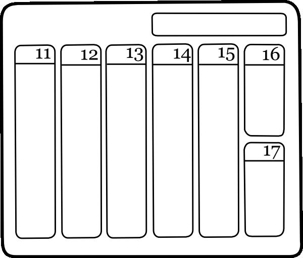Weekly Calendar Clipart : Weekly calendar clip art at clker vector