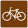 Bicycle Trail Sign Clip Art