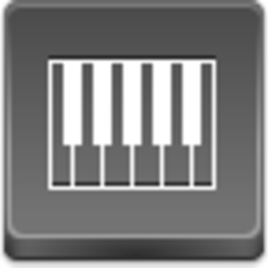 Free Grey Button Icons Piano Image
