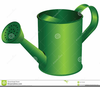 Watering Can With Flowers Clipart Image