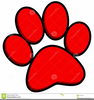 Animal Paw Print Clipart Image