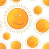 Funny Smiling Sun In The Seamless Pattern Image