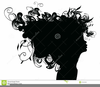Silhouette Clipart Girl Face Image