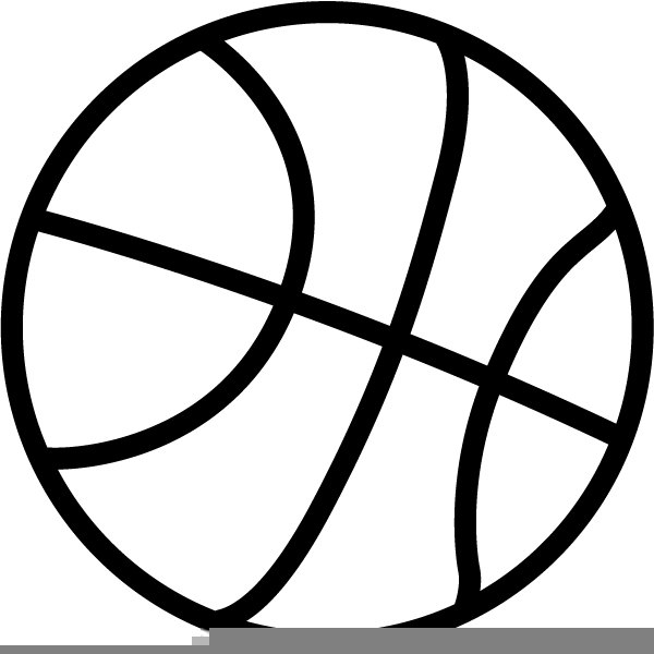 Black White Basketball Clipart | Free Images at Clker com - vector