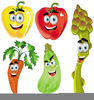 Fruit And Vegetable Characters Clipart Image