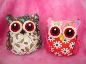 Fabric Plush Stuffed Owl Sewing Pattern Pin Cushion Toy