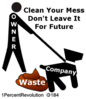 184 Clean Waste  Clip Art