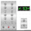 Elevator Buttons Clipart Image