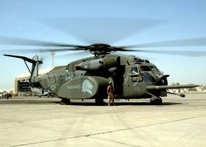 An Mh-53e  Sea Dragon  Helicopter From Hm-14 Image