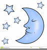 Clipart Moon And Stars Image