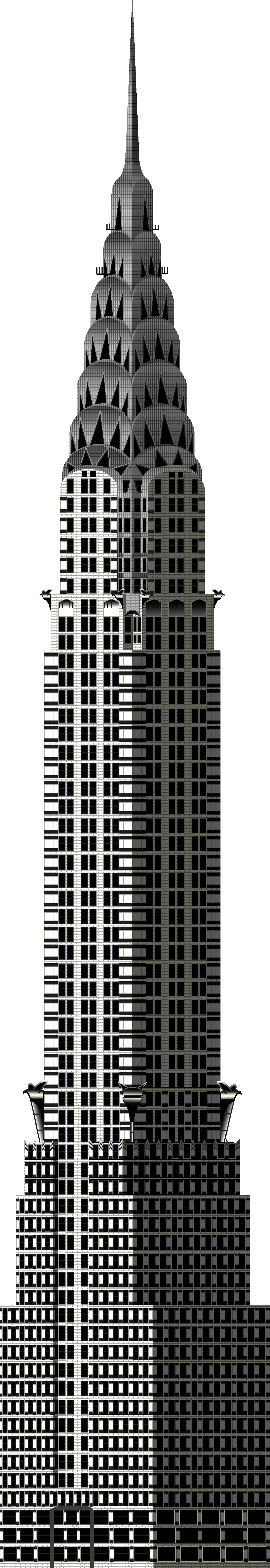 Newchryslerbuilding free images at vector for 2d building drawing