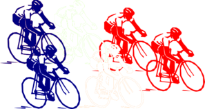 French Group Bike Clip Art