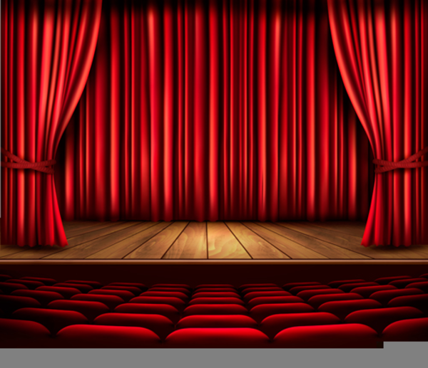 Theater Lights Background: Animated Stage Lights Clipart