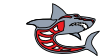 Ashed Shark Grey Red By Ashed Clip Art