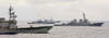 Enterprise Carrier Strike Group (csg) Ships Perform Divisional Tactics While Underway In The Atlantic Ocean Image