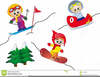 Winter Sports Cartoon Clipart Image