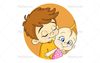 Big Brother And Baby Clipart Image