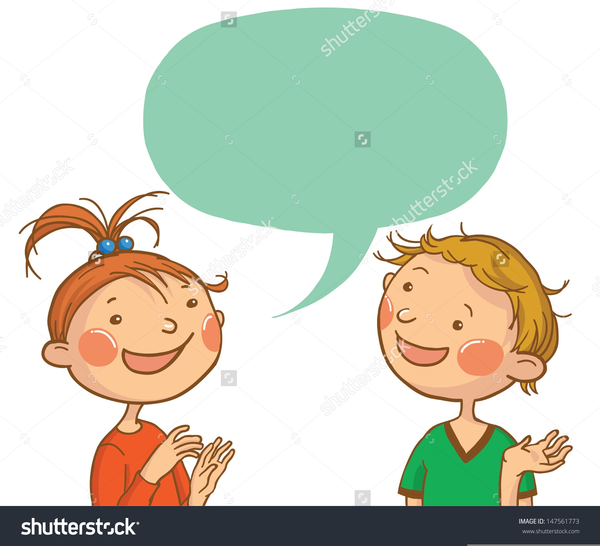 Two People Talking Clipart Free Free Images At Clker Com Vector