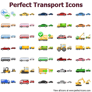 Perfect Transport Icons Image