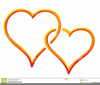 Double Hearts Wedding Clipart Image