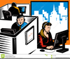 Work Office Clipart Image