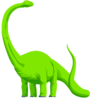 Green Colored Dinosaur Clip Art