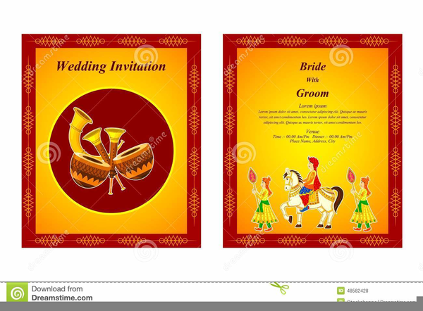 Indian Wedding Cards Vector Clipart Free Images At Clker Com