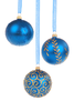Blue Christmas Baubles Fau Image