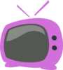 Purple Tv Clip Art
