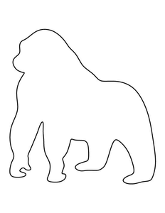 Silverback Gorilla Outline | Free Images at Clker.com ...