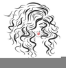 Lady With Curly Hair Clipart Image