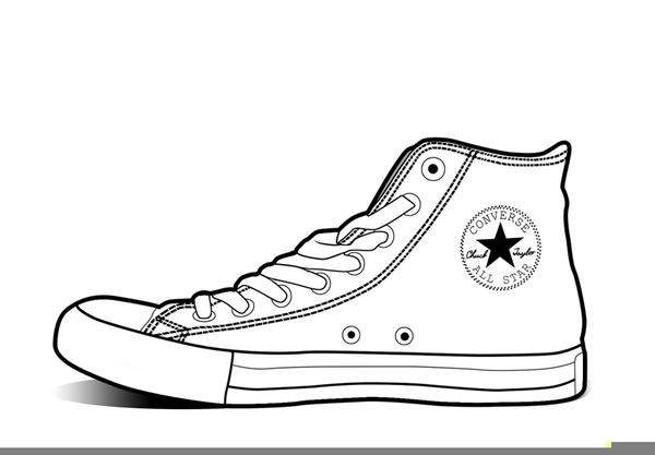 Converse Shoe Clipart Free Images At Clker Com Vector