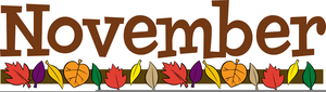 November Happenings Clipart Image